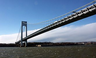 Transportation in New York City - The Verrazano-Narrows Bridge links the boroughs of Brooklyn and Staten Island.
