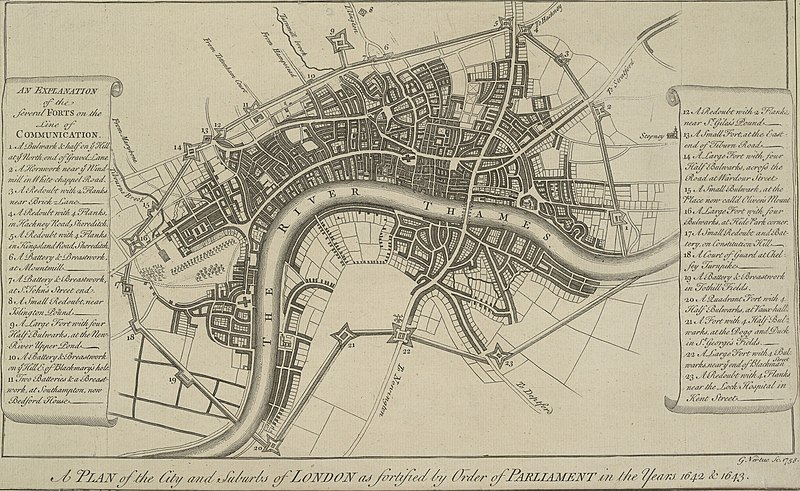 Vertue%27s 1738 plan of the London Lines of Communication.jpg