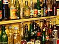 Verzameling van oude merken limonade flessen.JPG