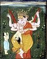 Viṣṇu as Narasimha tearing Hiranyakasipu to pieces..jpg