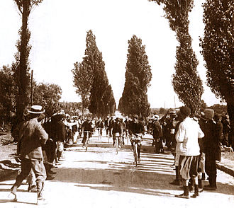 Charles Laeser - Laesar winning the 4th stage of the 1903 Tour de France