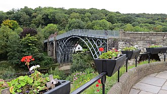 Ironbridge - A view of the Ironbridge in its previous grey colour.