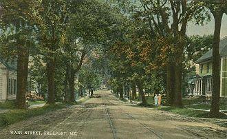 Freeport, Maine - Main Street c. 1910