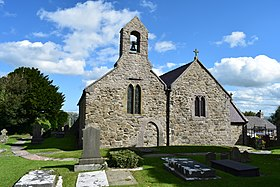 View of St Elian Church in the Village of Llanelian-Yn-Rhos, North Wales.jpg