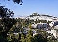 View of Vasilissis Sofia Avenue, Irodou Attikou Street and Mount Lycabettus from the (Ardettus) Ardittos Hill.jpg