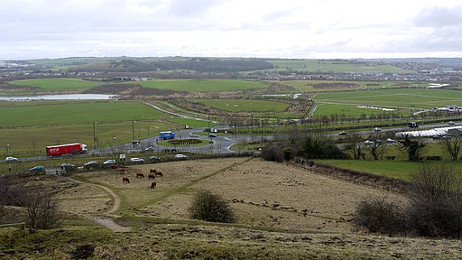 View south from Penshaw Monument - geograph.org.uk - 1707851