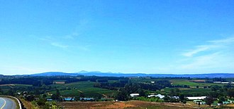 Elgin, Western Cape - View over the Elgin valley from the west