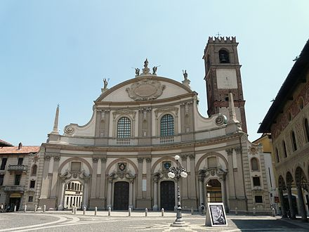 The facade of the Vigevano Cathedral (in Italy) was designed and built by Juan Caramuel y Lobkowitz Vigevano-duomo2-2010.jpg