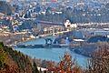 Villach Blick von Oberwollanig auf Lind und-die Drau mit der Staustufe Villach 11122010 628.jpg