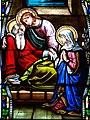 Villeréal - Église Notre-Dame - Vitrail de la vie de Joseph -5.jpg