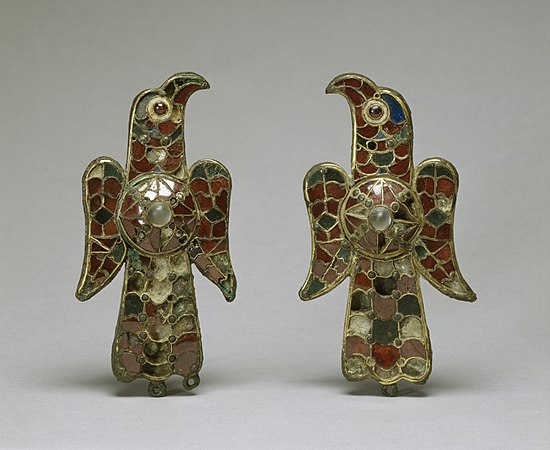 Visigothic - Pair of Eagle Fibula - Walters 54421, 54422 - Group.jpg