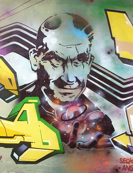 enrico fermi, mural graffiti