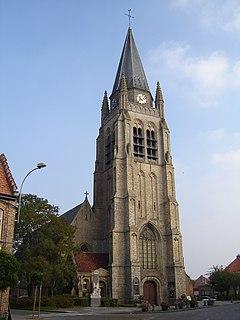 Vlamertinge Town in Flanders, Belgium