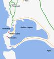 Voidokilia beach location.png