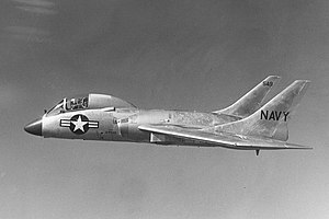 Vought F7U-3 Cutlass in flight c1955 (cropped).jpg