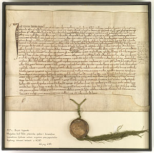 Władysław I the Elbow-high - Edict by Władysław the Short in 1325 confirming the Cistercians of Byszewo continue to have the same rights as under German law, and the continued ownership of their Abbey in Byszewo.