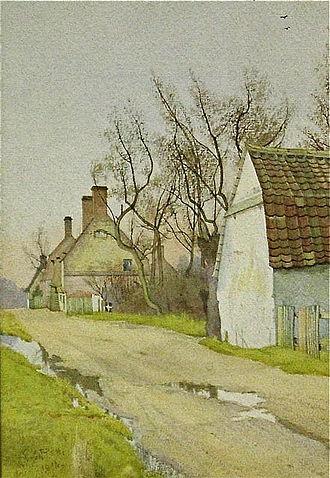 Fraser family of artists - Image: W.F. Garden Back Lane, Holywell, 1914