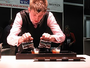 Barista - Competitor at the World Barista Championship (2006).