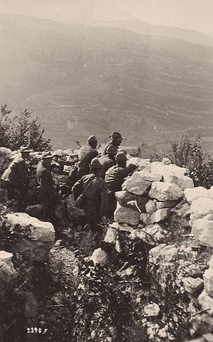 Alpini - Alpini in the frontline trenches on the Monte Corno