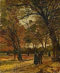 Bois de Boulogne with People Walking