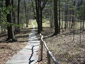 Zen Mountain Monastery - Image: Walkway @ Zen Mountain Monastery