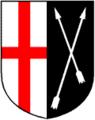 Wappen Sankt Sebastian am Rhein in Deutschland farbe.png
