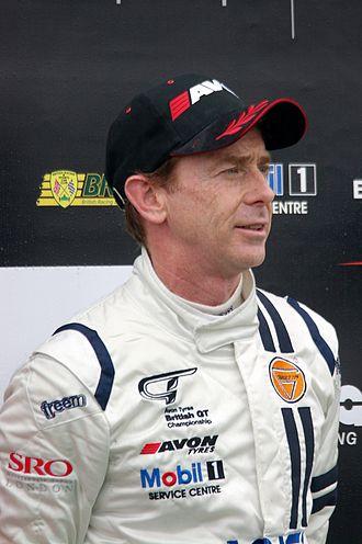 Warren Hughes - Hughes as a British GT driver in 2012.