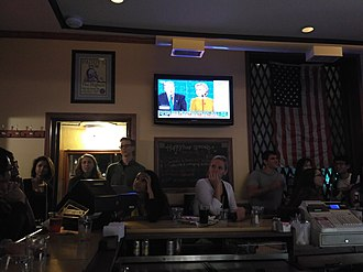 2016 United States presidential debates - Patrons of a Philadelphia pub watching the debates
