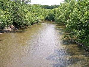 Watonwan River - The Watonwan River in Garden City in 2007