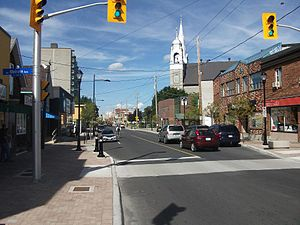 Wellington Street (Ottawa) - Wellington Street West in Hintonburg