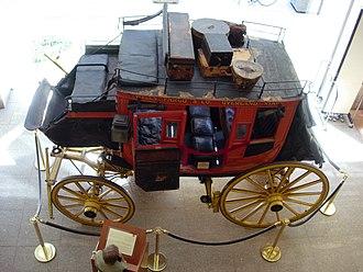 History of Wells Fargo - Overland stage in Wells Fargo History Museum, San Francisco