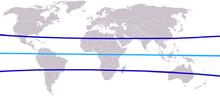 verdenskort med ækvator
