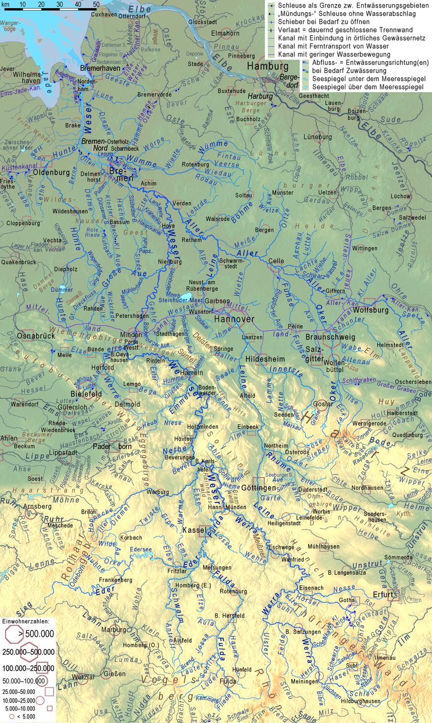 Flusssystem der Weser – Wikipedia