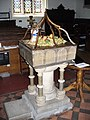 West Clandon Church Font - geograph.org.uk - 993474.jpg