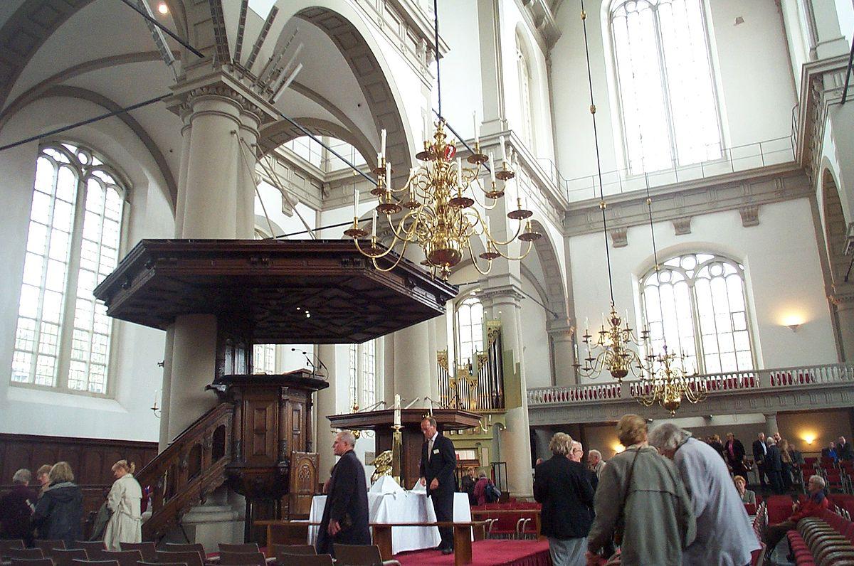 Церковь вестеркерк в городе амстердаме в нидерландах.