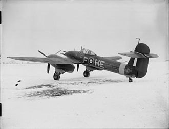 Westland Whirlwind (fighter) - Whirlwind Mark I, P7116 HE-F Bellows Argentina No. 2, flown by the Officer Commanding 263 Squadron RAF based at Colerne, Wiltshire, on the snow-covered airfield at Charmy Down, Somerset.