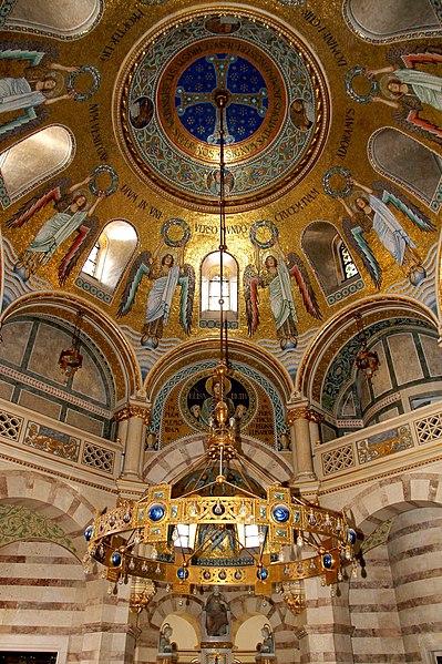 File:Wien - Mexikokirche, Elisabethkapelle, Deckenmosaik.JPG