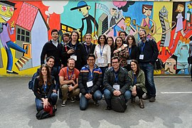 Wikimedia Conference 2015 Iberocoop Group photo.jpg