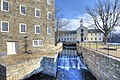 Wilkinson Mill of Slater Mill complex - exterior & water power systems.jpg