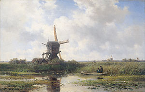 Abcoude - In 't Gein bij Abcoude by Willem Roelofs (1870)