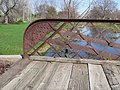 Willow Creek Bridge, Gilman Park, Pierce, Nebraska lattice detail 1.JPG
