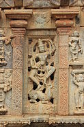 Window art and wall relief at Bhoganandishvara group of temples, Chikkaballapur district