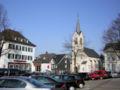 Wipperfürth Marktplatz evangelische Kirche Kreissparkasse.JPG