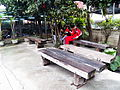 Wooden Benches in 1st Platform of TRA Zhongli Station 20130302.JPG