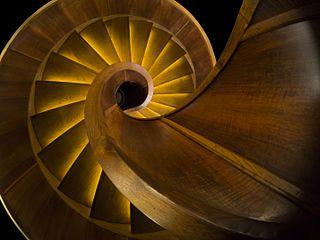Wooden spiral stairs (Nebotičnik, Ljubljana)