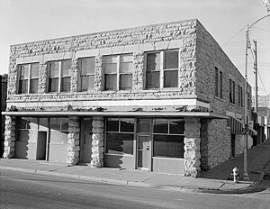 Woodruff Block, بناشده در ۱۸۹۲. ۱۹۸۵ photo, Historic American Buildings Survey.