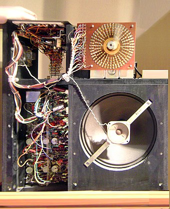 Wurlitzer Sideman (1959, inner view) Wurlitzer Sideman drum machine (inside) front view.jpg