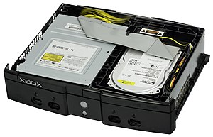 Xbox (console) - The use of standard desktop components such as a DVD-ROM and hard drive contributed to much of the Xbox's weight and bulk.