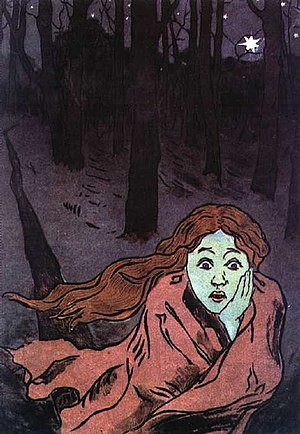 "Maria Yakunchikova ""Fear"" 1893-95"