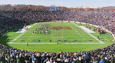 The Yale Bowl in 2001 during the annual football game played between Harvard and Yale Yale-Harvard-Game.jpg